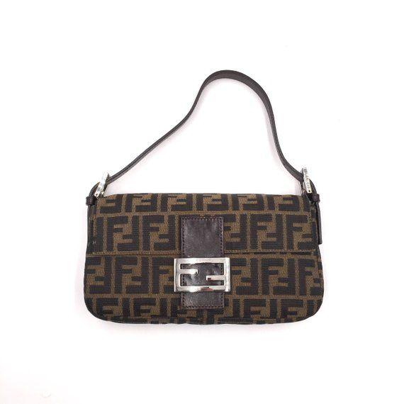 8dbf005520 Authentic Vintage Fendi Zucca Baguette Bag | Fendi Vintage Bag ...