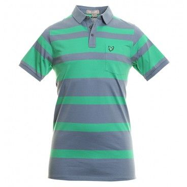 Click Image Above To Purchase: Lyle & Scott Kb681 Club Eagle Bold Striped Shirt - Boathouse Blue