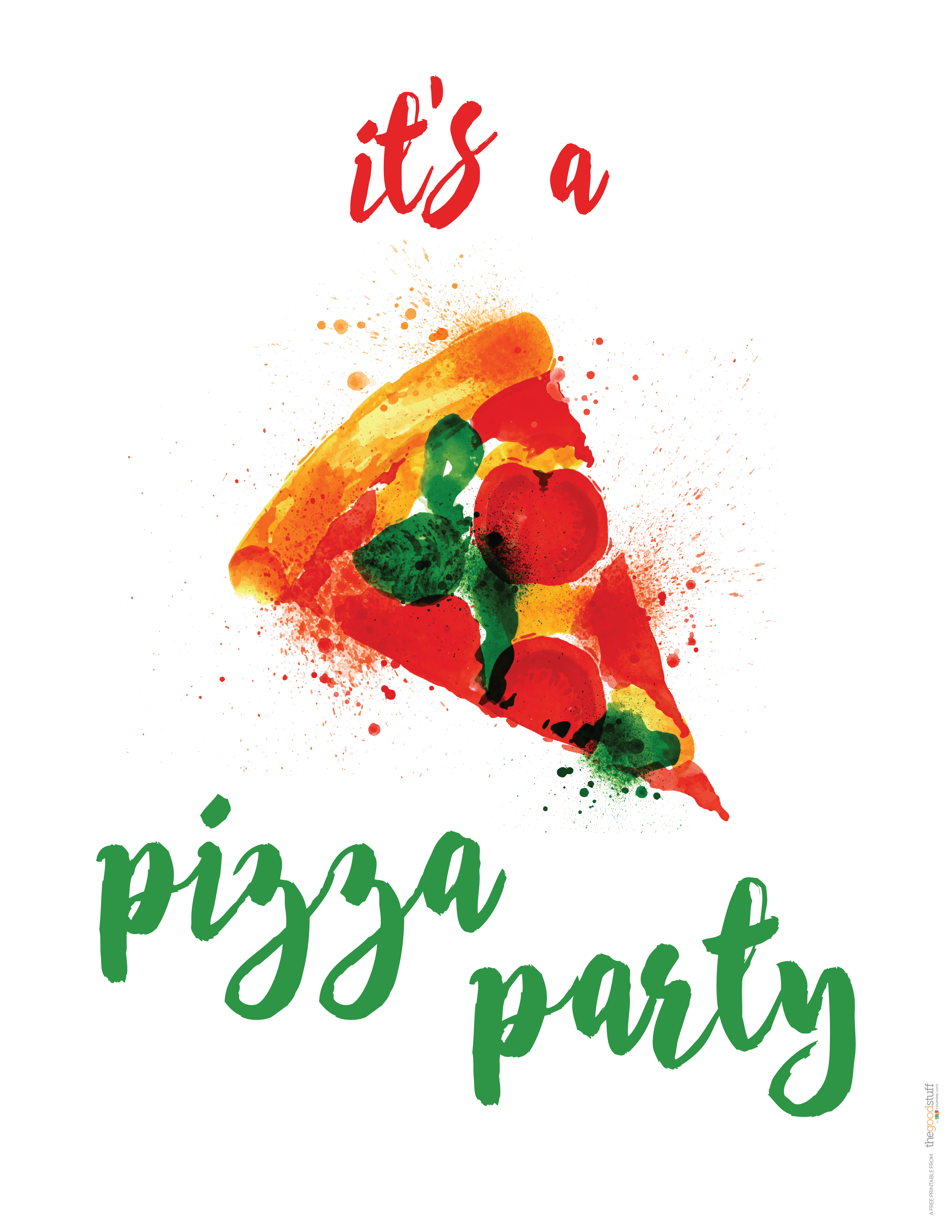 Hostess Helpers Free Pizza Party Printables