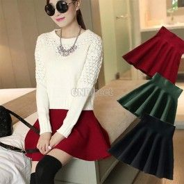 New Fashion Summer Women\'s High Waist Bubble Mini Short Skirt Sexy Pleated Dress