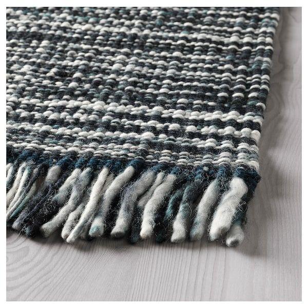 """kÖpenhamn rug flatwoven  handmade dark gray 5 ' 7 """"x7"""