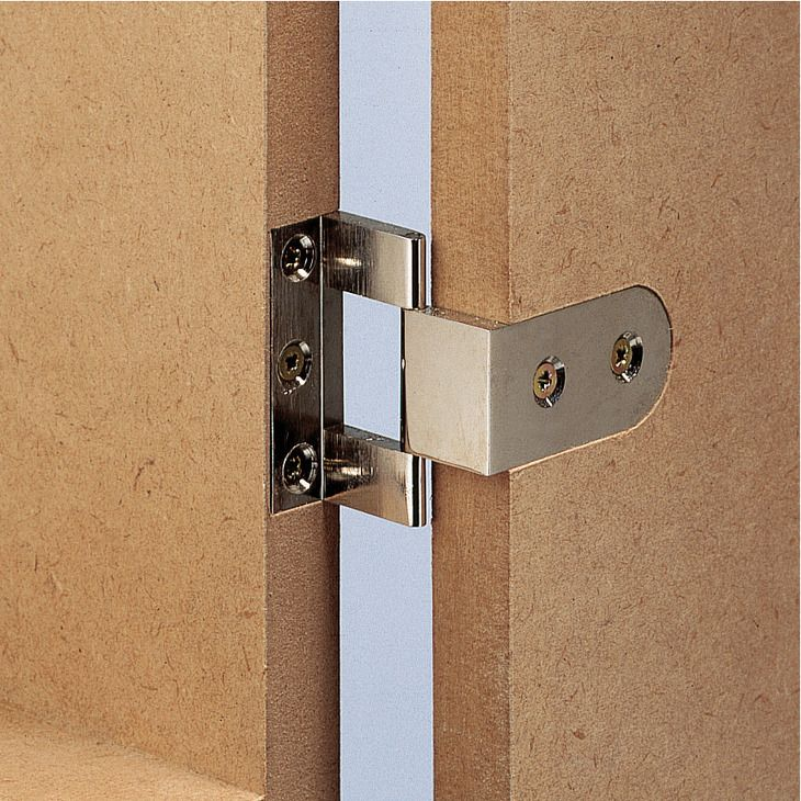 butt hinge neuform brass for butting overlay doors in. Black Bedroom Furniture Sets. Home Design Ideas