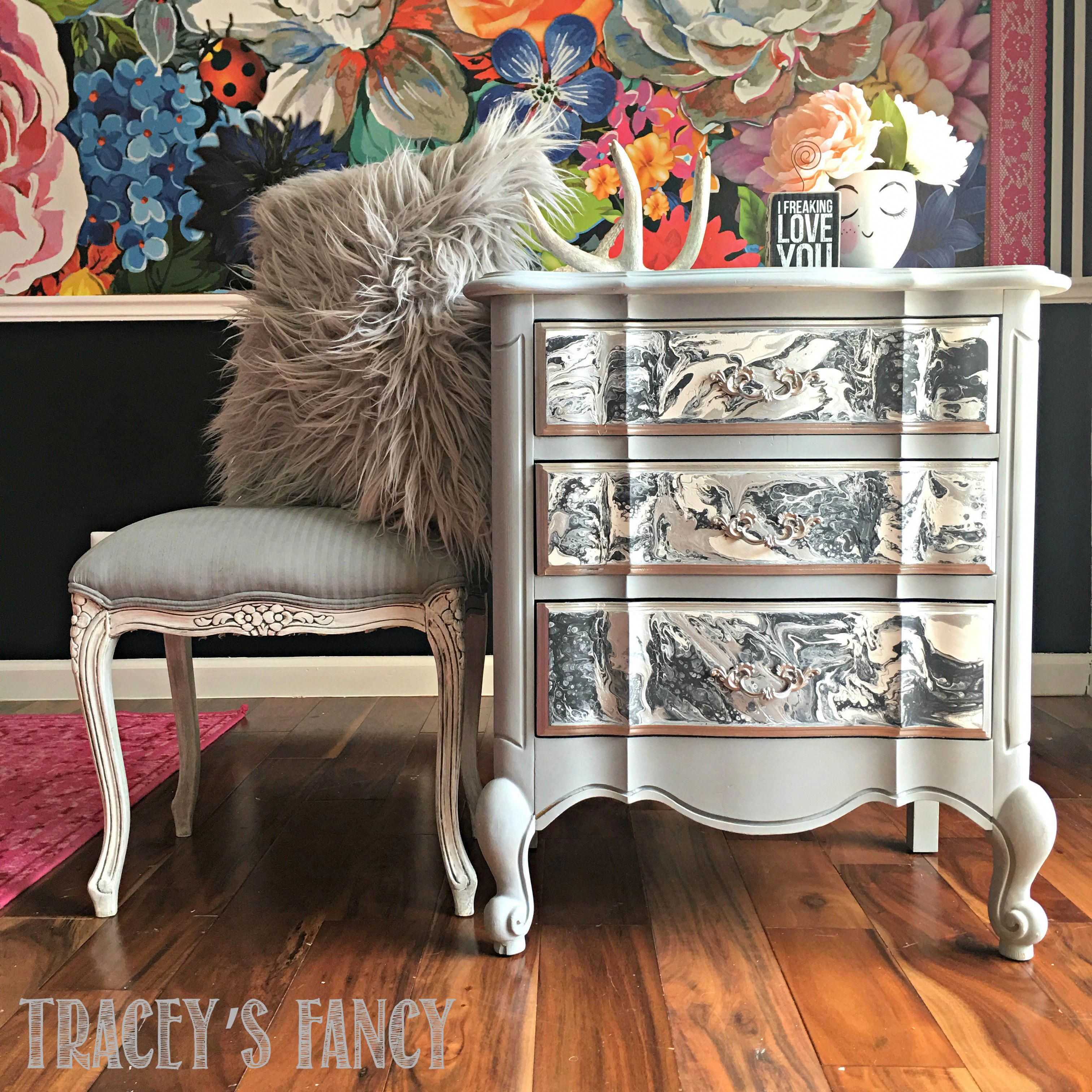 Easy Color Pour on Furniture Tutorial Painting Tutorials