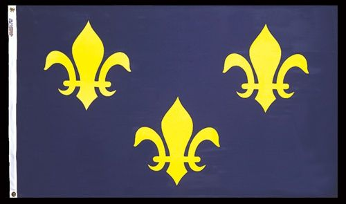Our Historic French Fleur-de-lis Flag has brilliant color, is authentic in design and is made in the USA with true craftsmanship. Representing an important part of U.S. History, you can be proud to display this revered standard.