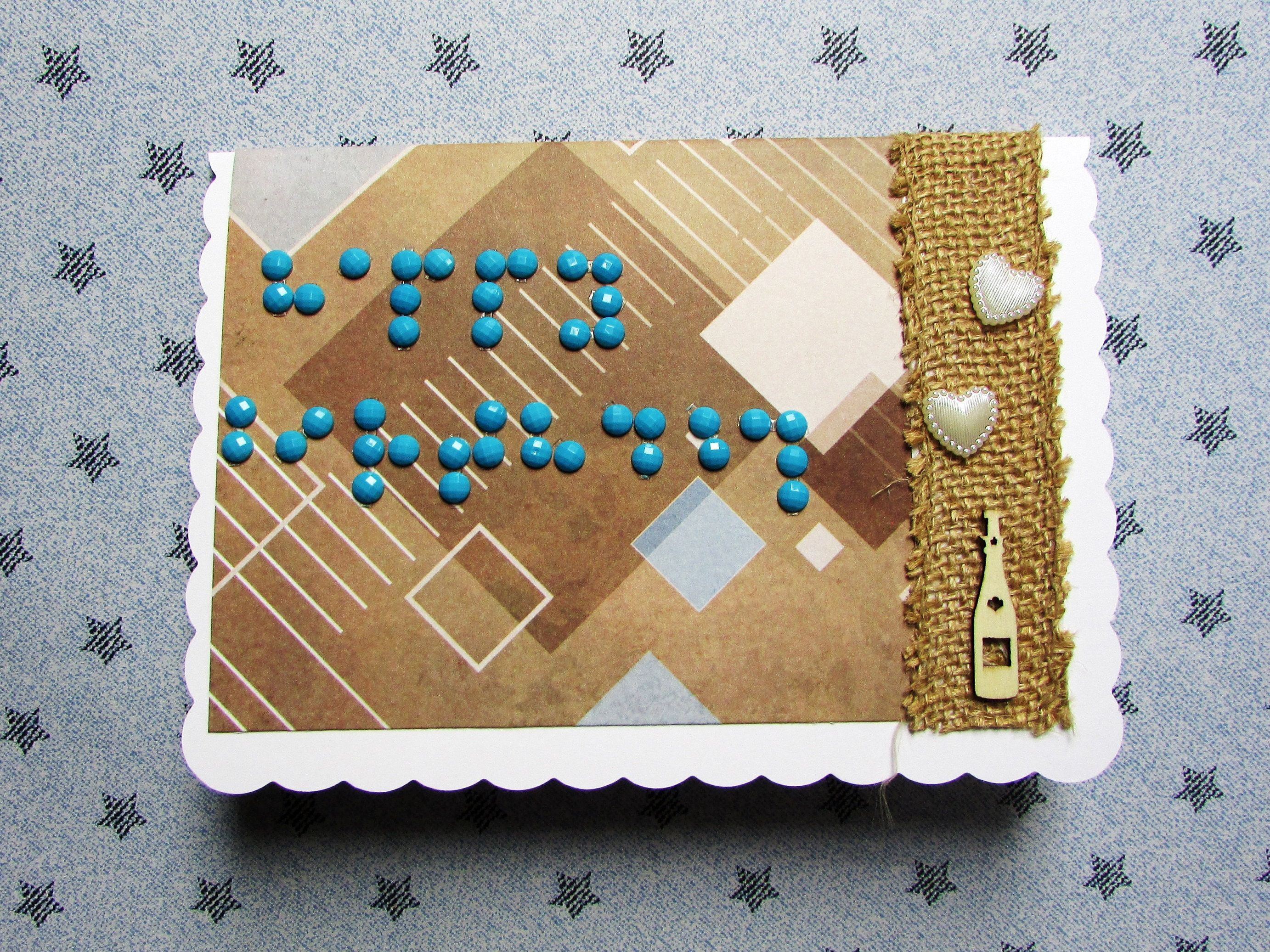 Braille Birthday Card Original Handmade Stylish Happy Birthday