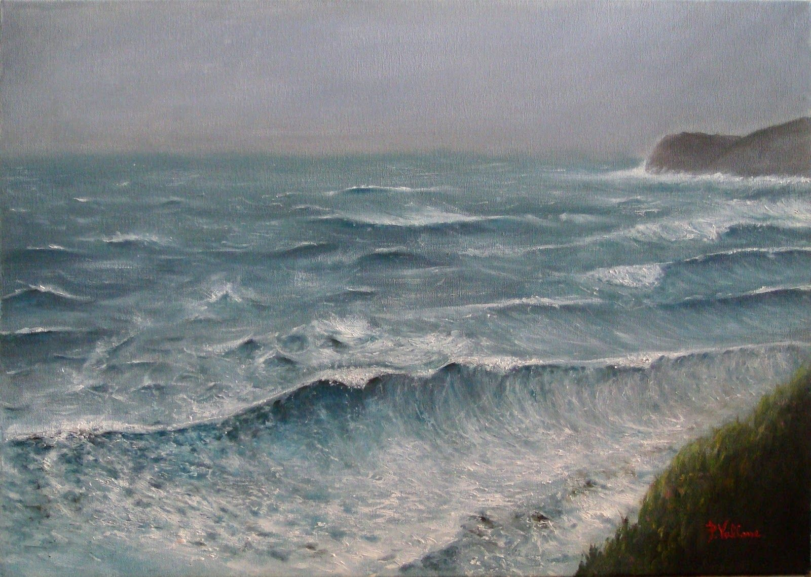 """punta infreschi""  50 x 70 cm oil on canvas painting."