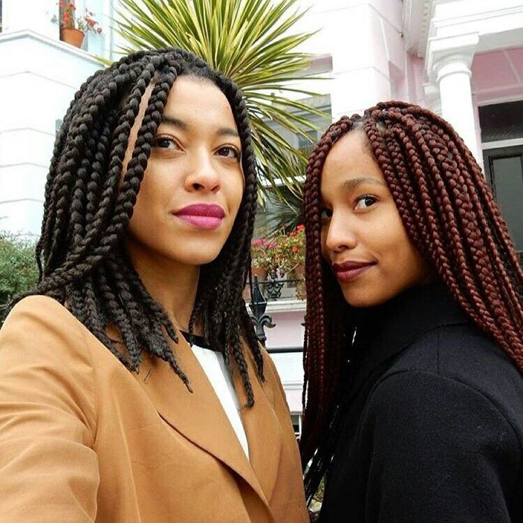 Elegant Box Braid Bob Hairstyles