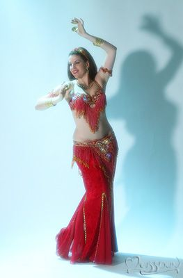Turkish super fringe costume with separate skirt.