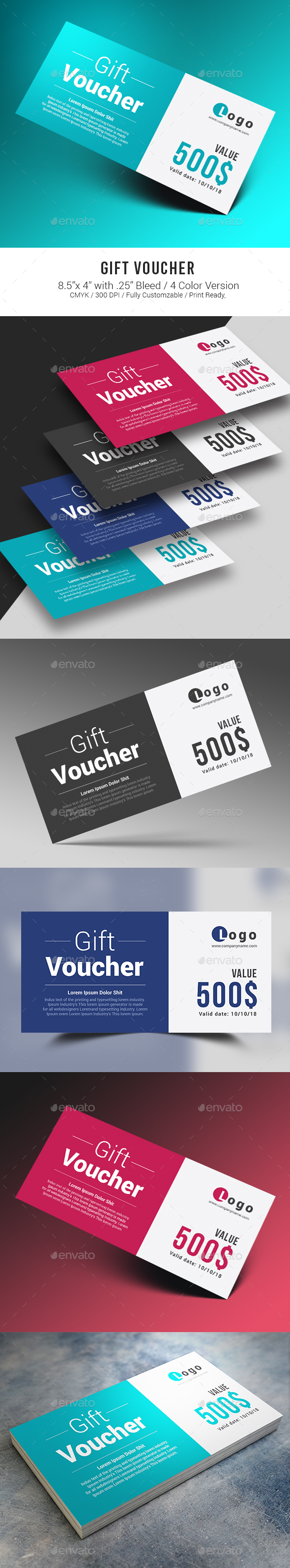 Gift Voucher Psd Templates And Template