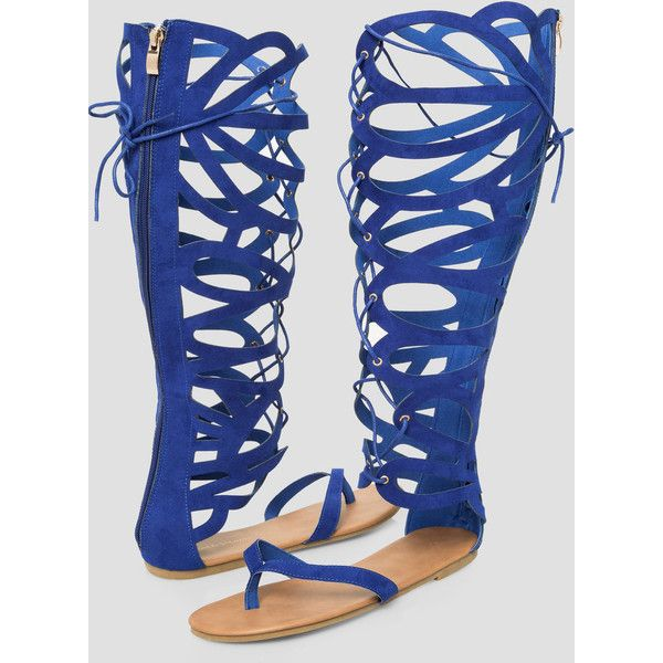 658c3e5eaad Ashley Stewart Wide Calf Gladiator Sandal - Wide Width ( 45) ❤ liked on  Polyvore featuring shoes