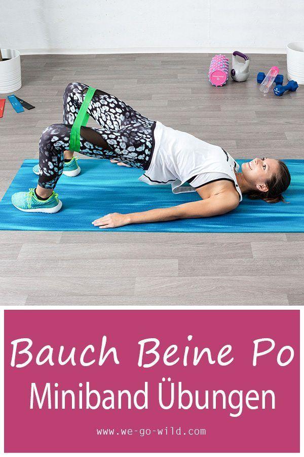 ᐅ 12 Minibands Übungen für effektives Bauch Beine Po Training