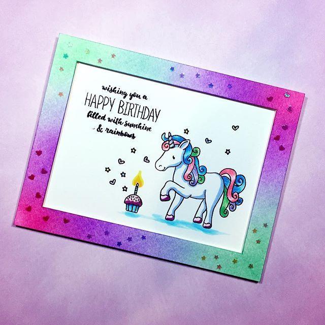 sss magical birthday unicorn  unicorn birthday cards