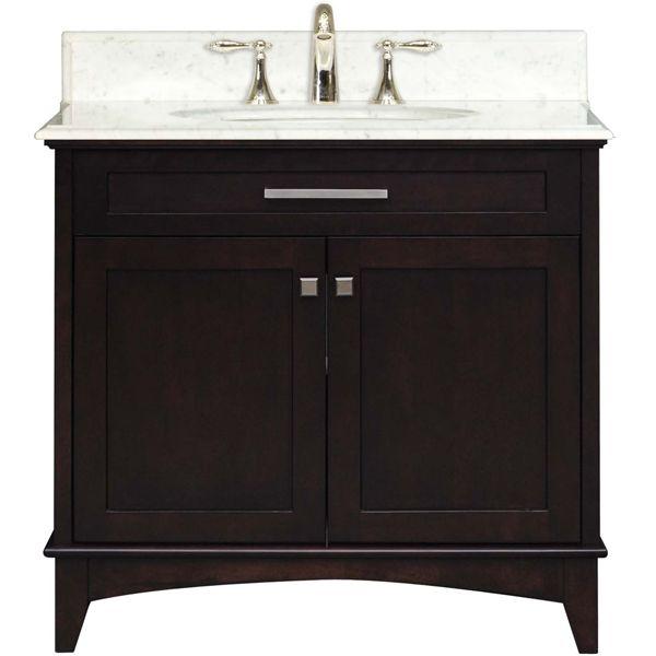 Water Creation Manhattan 36 inch Bathroom Vanity, Espresso finish