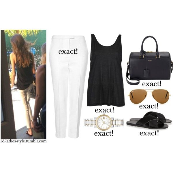 eleanor by eleanor-calder-outfits on Polyvore featuring Topshop, Boutique, Ancient Greek Sandals, Yves Saint Laurent, Burberry and Ray-Ban