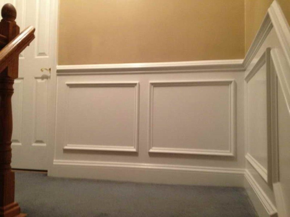 Grey Flooring Design Plus Creative Wainscoting Ideas Mixed