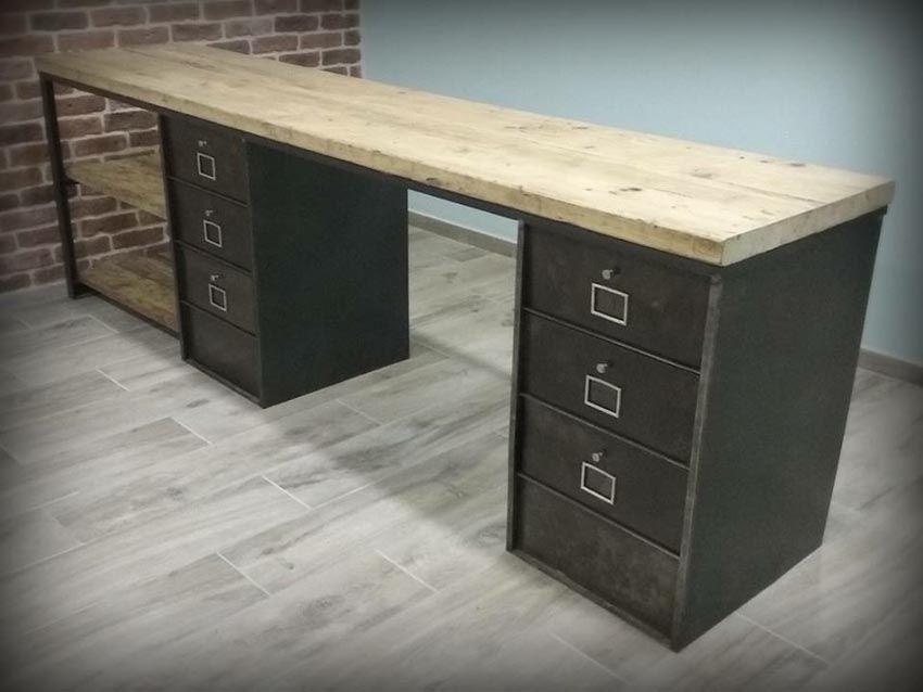 Meubles de rangement industriel métal bois idées pour arthur en