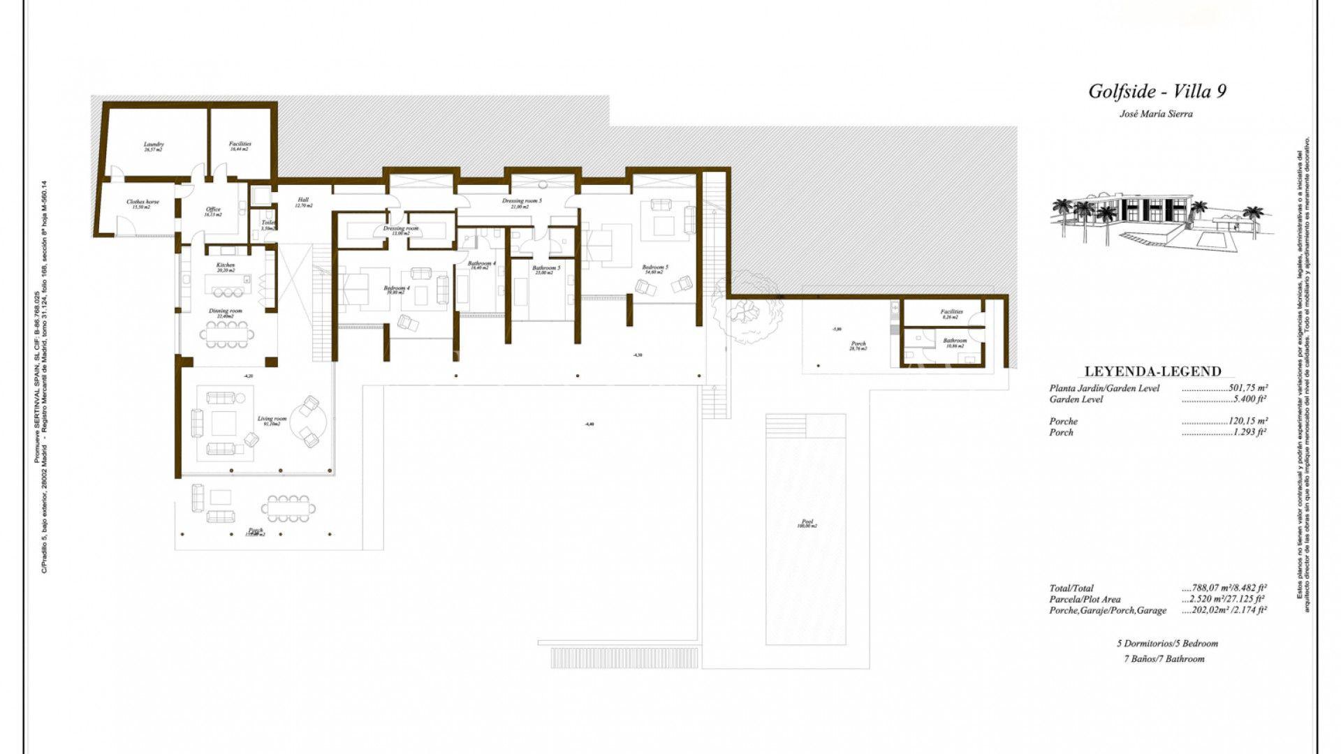 Villa te koop in Casares. Prachtige eigentijdse villa in Finca Cortesin, Casares, Andalusië. De luxe villa wordt gebouwd front line golf met een prachtig zeezicht. Het pand zal op op individueel perceel van 2.520 m² en met een bebouwde oppervlakte van 814 m².De moderne villa heeft 5 lichte......