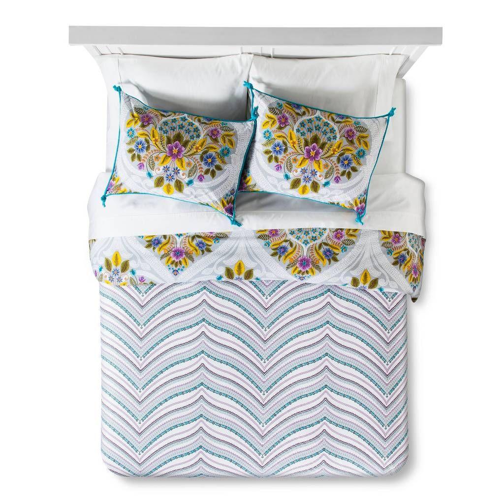 Indie Flower Duvet Set Boho Boutique™. Image 3 of 3