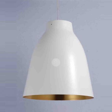 Suspension blanche design Lamia Design industriel