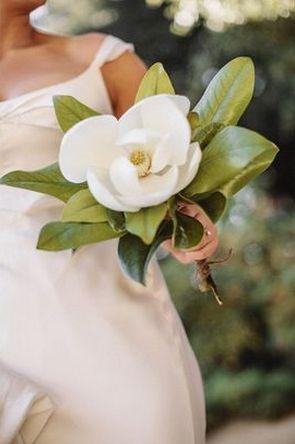 REVEL: White Magnolia Bouquet http://dlvr.it/Cjp7s6 #Weddings