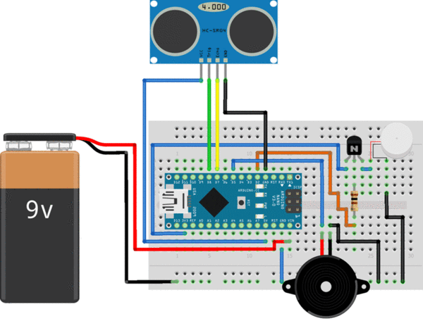 Diy Smart Blind Stick Using Arduino And Ultrasonic Sensor Quartzcomponents In 2020 Smart Blinds Arduino Electronics Projects