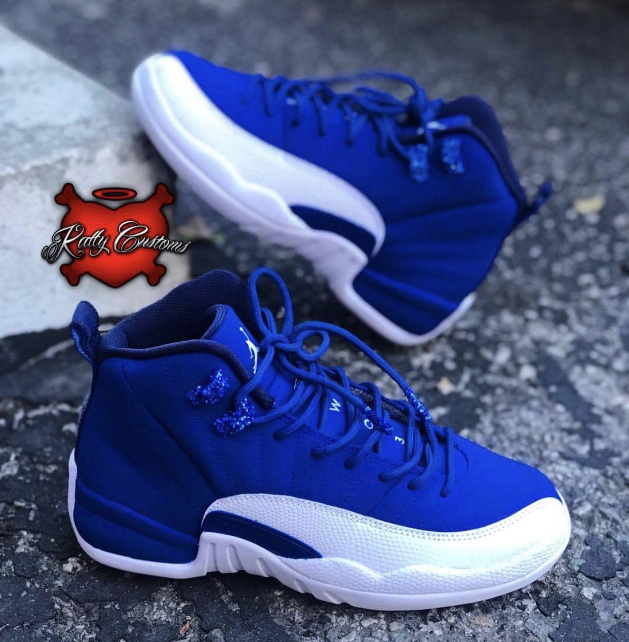 "Custom ""Blueberry Glitter"" Air Jordan XII (12) - Katty Customs"