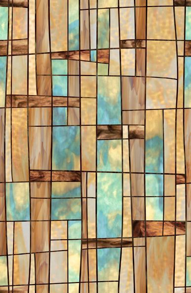 Mid Century Modern Stained Gl Window