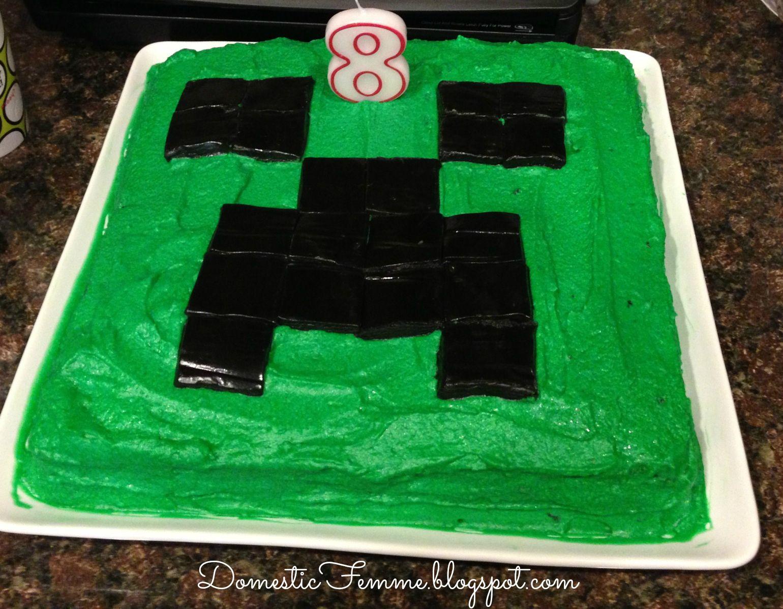 Minecraft Birthday Party: Creeper Cake #Parties #Birthdays #DIY ... for Minecraft Characters Creeper Face  75tgx
