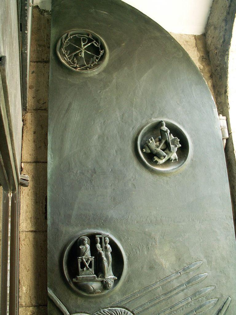 Köln (Cologne) St. Ursula church door detail Door