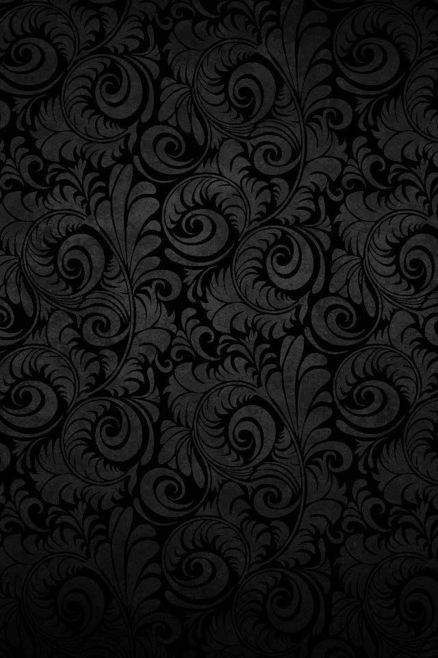 Filigree Black Background Wallpaper Black Hd Wallpaper Black Wallpaper Iphone