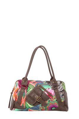 Desigual women's Tokyo Ishburi bag, with a short strap. It has a single inner compartment with separate pockets with a zip fastening.