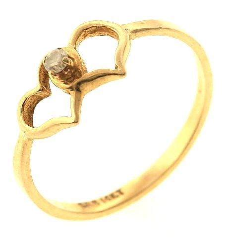 1 2 Gram 14kt Yellow Gold Ring With Diamond Accent