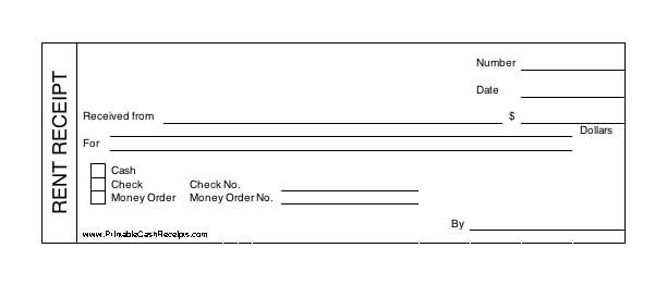 Rent Receipt Template Word – Cash Receipt Format in Word
