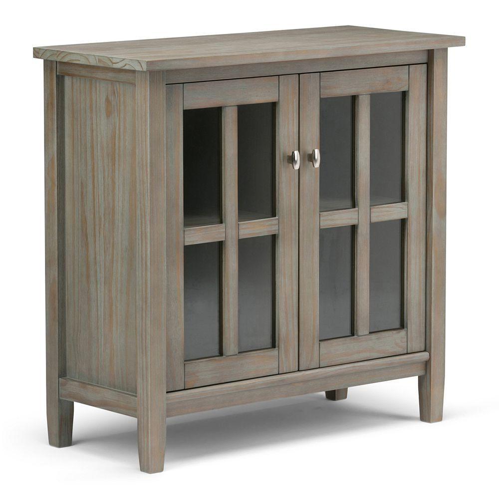 Elegant 2 Door Wood Storage Cabinet