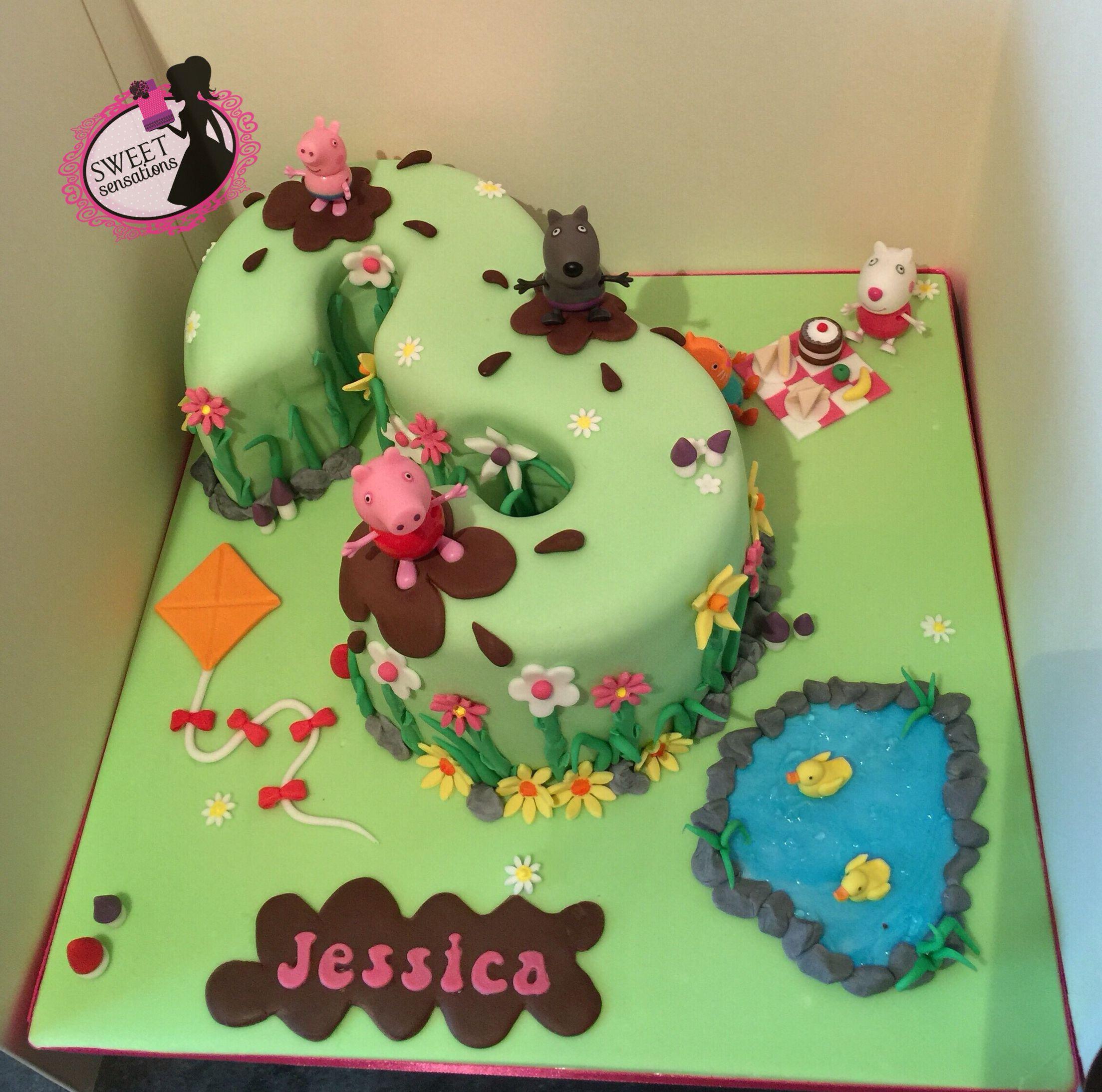 Peppa pig number 3 cake Dessert Pinterest