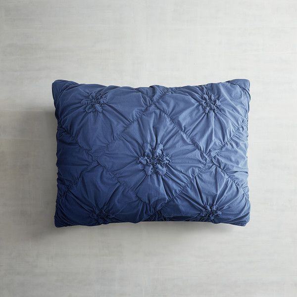 Fresh Pier 1 Imports Ink Blue Savannah Pillow Sham 165 CNY ❤ liked on Polyvore Review - Awesome bed accessories Unique
