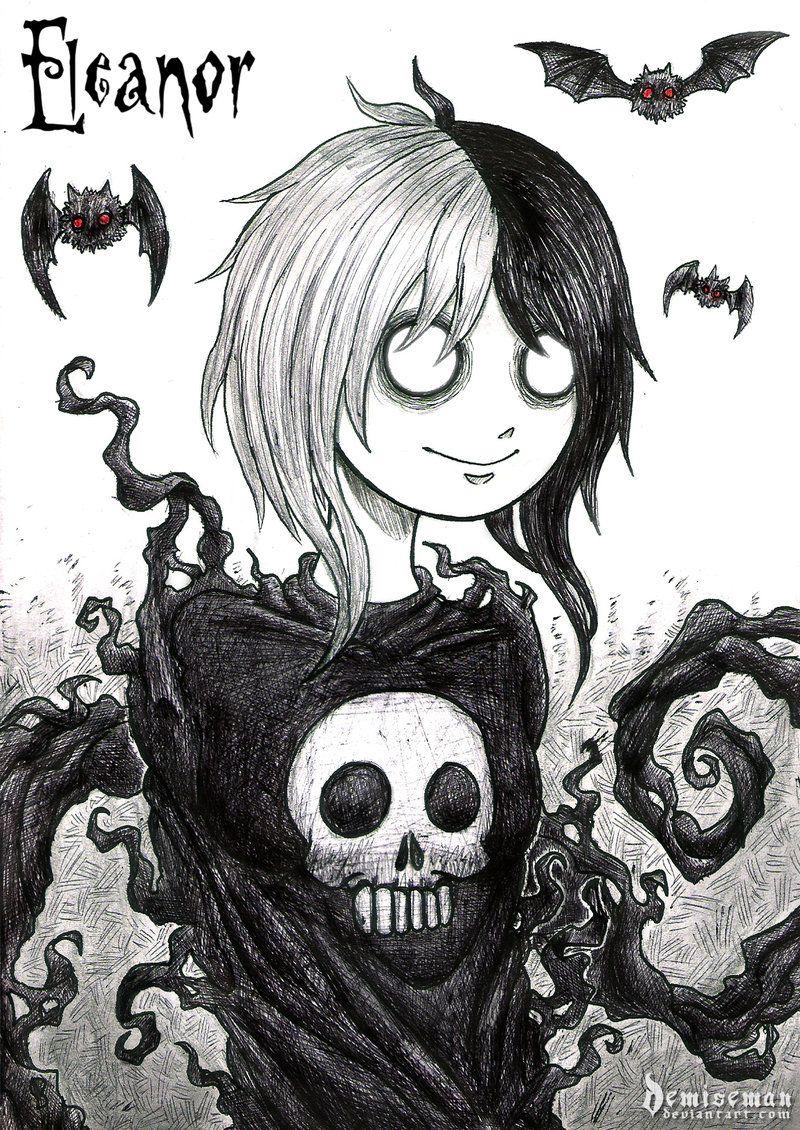 Comm Eleanor By Demiseman Gothic Drawings Emo Art Horror Art