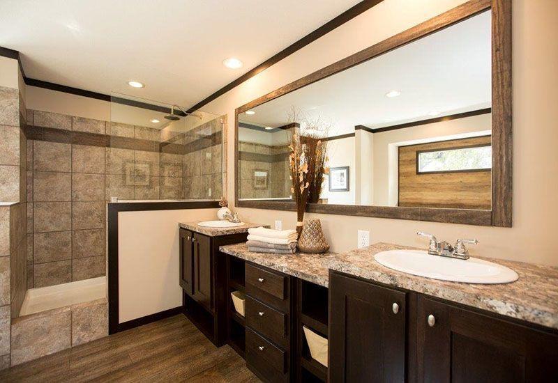 Contemporary CMH Patriot PAR S Mobile Home Master Bathroom Simple Elegant - Simple mobile home bathroom remodel Idea