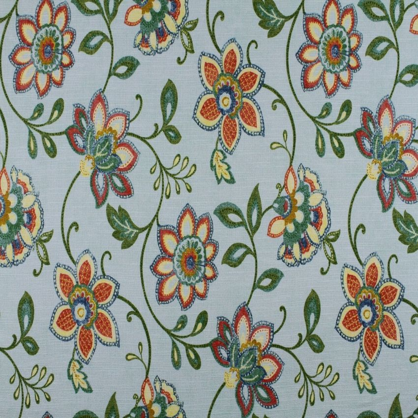 32b415fe79 The M9158 Jade Stone premium quality upholstery fabric by KOVI Fabrics  features Floral pattern and Blue as its colors. It is a Print type of  upholstery ...