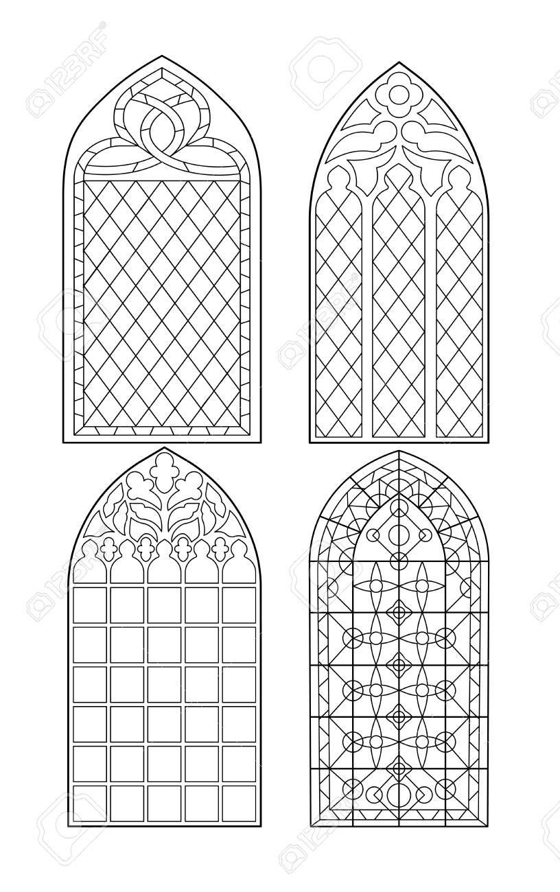 Gotische Säulen . Vintage-Rahmen . Kirchenfenster ...