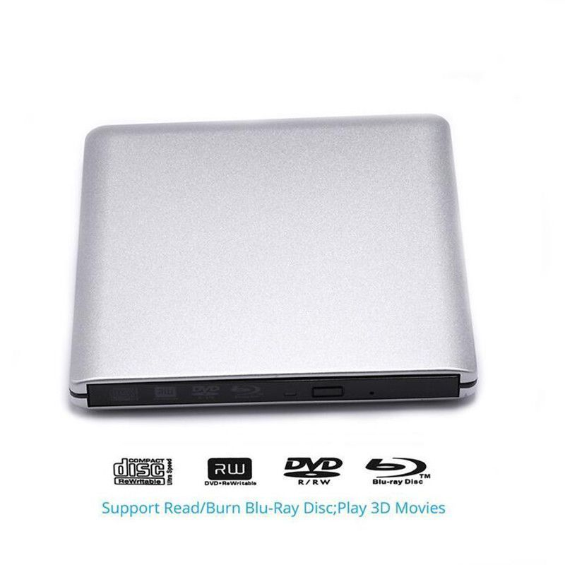 USB 3.0 Blu ray Burner Disc Recorder Writer Player External DVD Driver BD-RE CD DVD+/-RW DVD-RAM Drive for Bluray 3D Movie pc