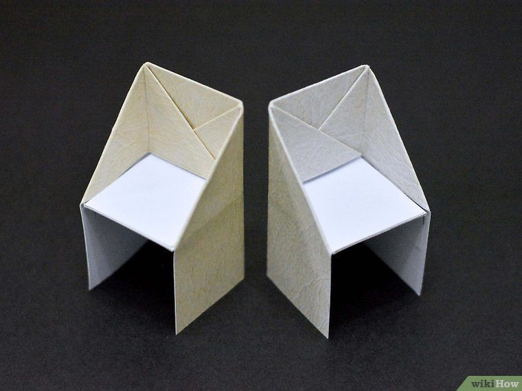 How to Make an Origami Chair 13 Steps with wikiHow