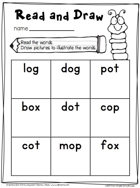 Short O Worksheets - Color each clock that uses the short 'o ...