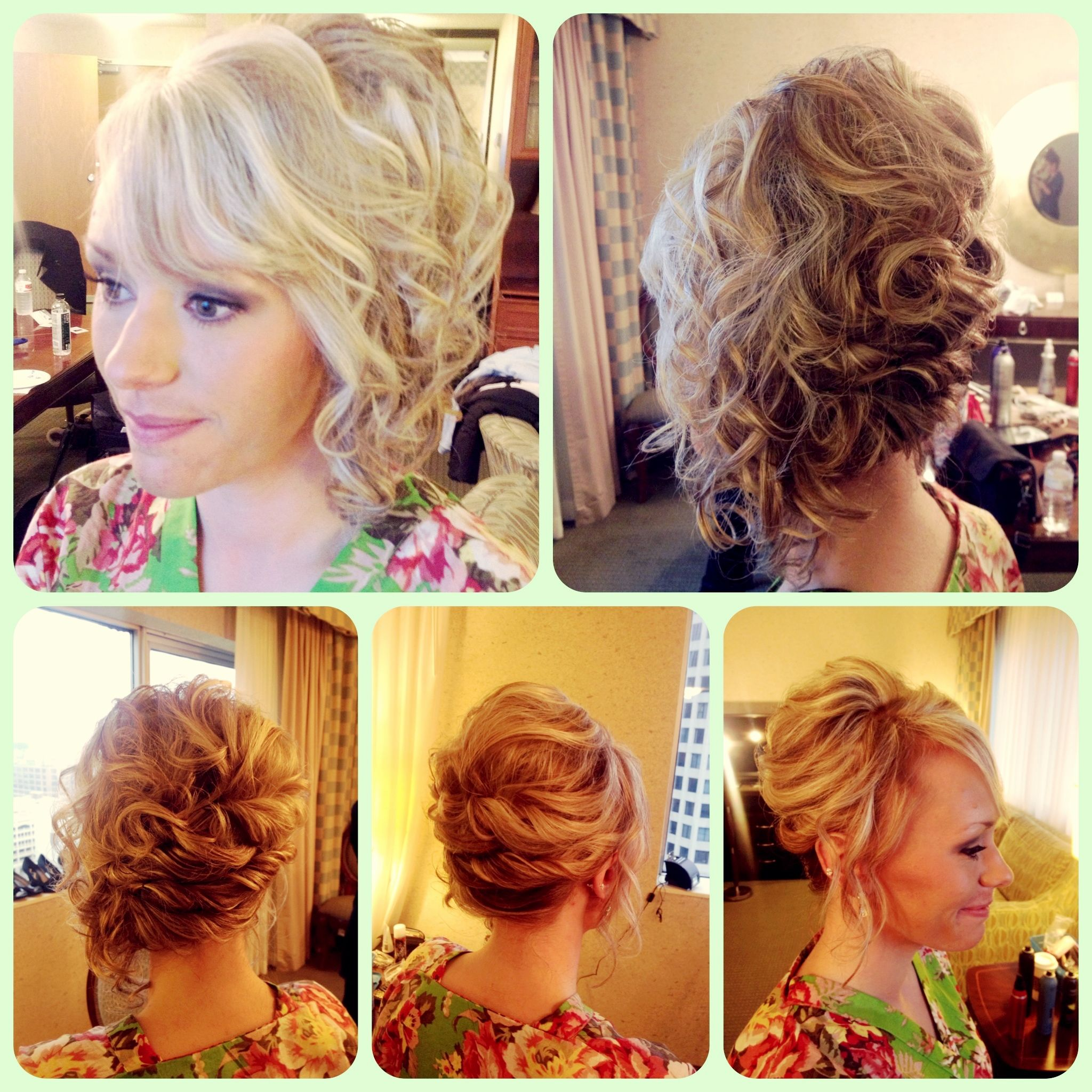 Wedding hairstyle short hair bridal updo soft romantic loose style