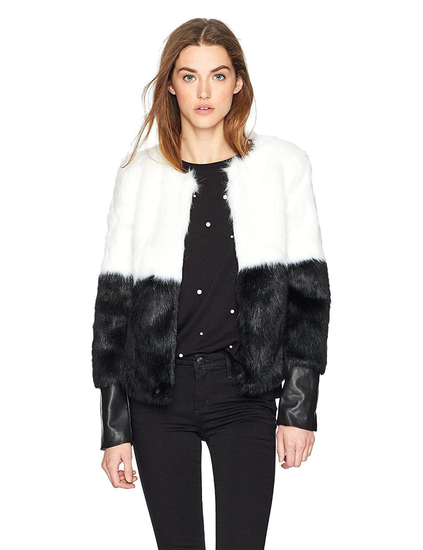 Guess Women S Long Sleeve Sammi Faux Fur Jacket Jackets Women Long Sleeve Faux Fur Jacket [ 1500 x 1154 Pixel ]
