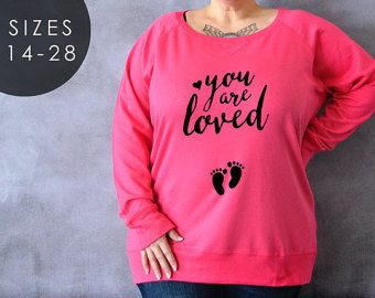 You Are Loved Plus Size Shirt, Plus Size Maternity Shirt, Preggers, Plus Size Sweater, Gift for Wife, Napping for Two, Footprints Shirt