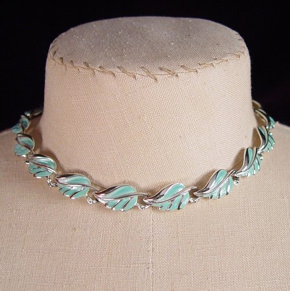 Vintage Choker Necklace 1960s Coro Turquoise by AppleCharlotte, $24.00