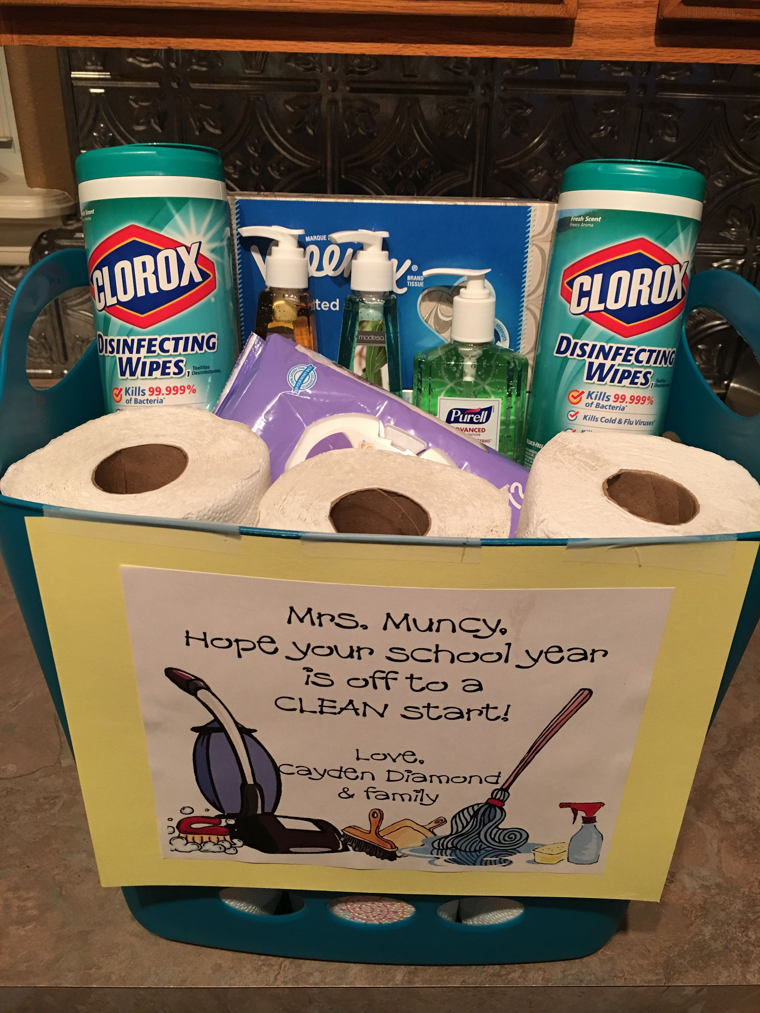 Off To A Clean Start Back To School Teacher Gift Disinfectant