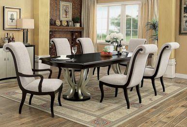 Fine 106 Abela Espresso Champagne Dining Table Set In 2019 Uwap Interior Chair Design Uwaporg