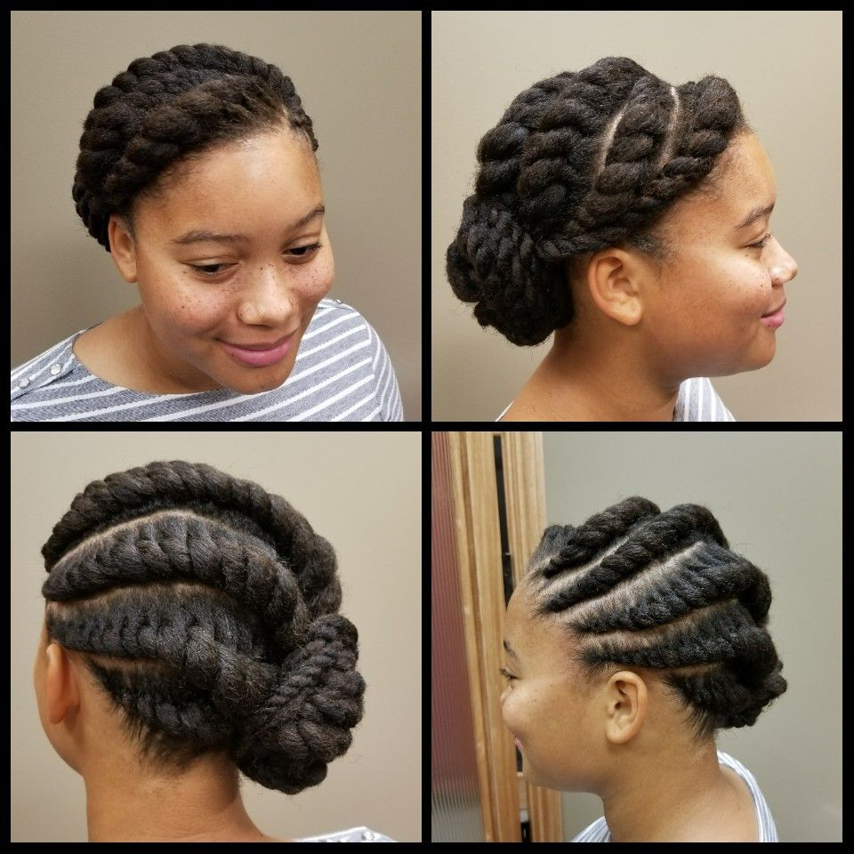 Feed In Flat Two Strand Twists Flat Twist Hairstyles Natural Hair Twist Out Natural Hair Updo
